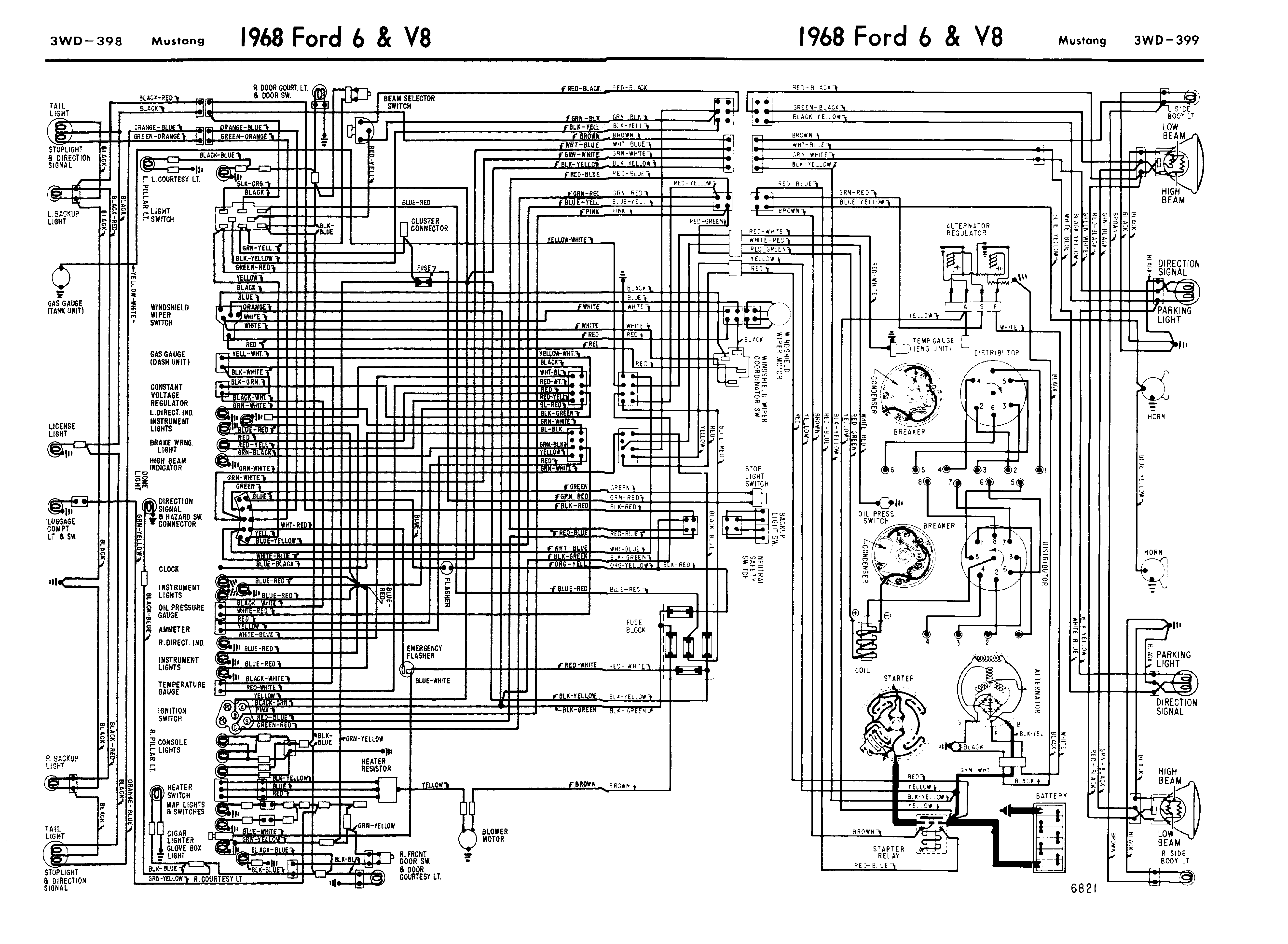68mustang_wiring_guide 1968 mustang wiring diagrams evolving software 2001 mustang wiring harness at readyjetset.co
