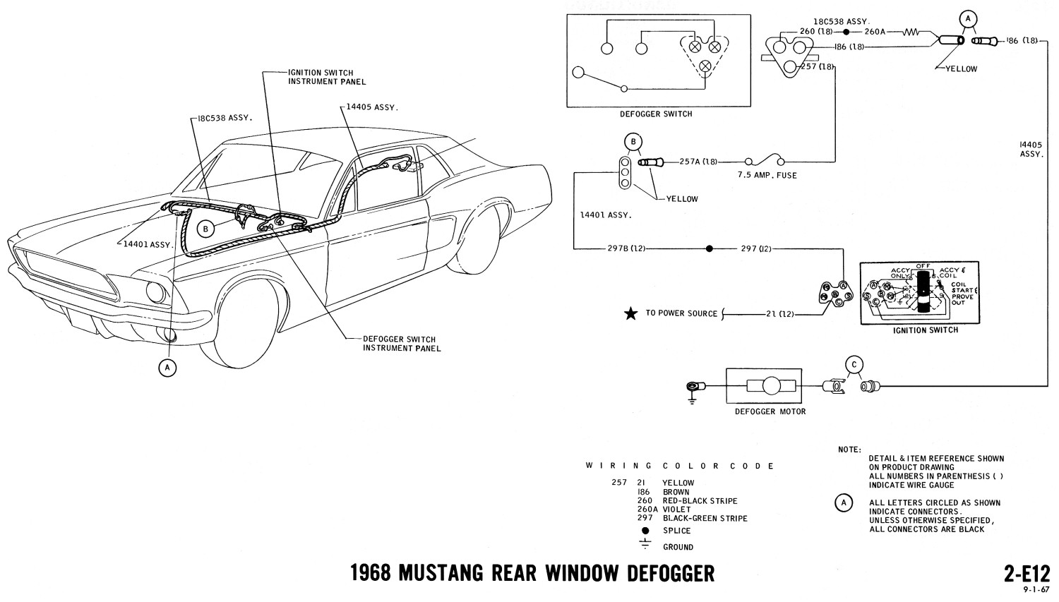 1968 Mustang Wiring Diagrams Evolving Software Diagram Defogger