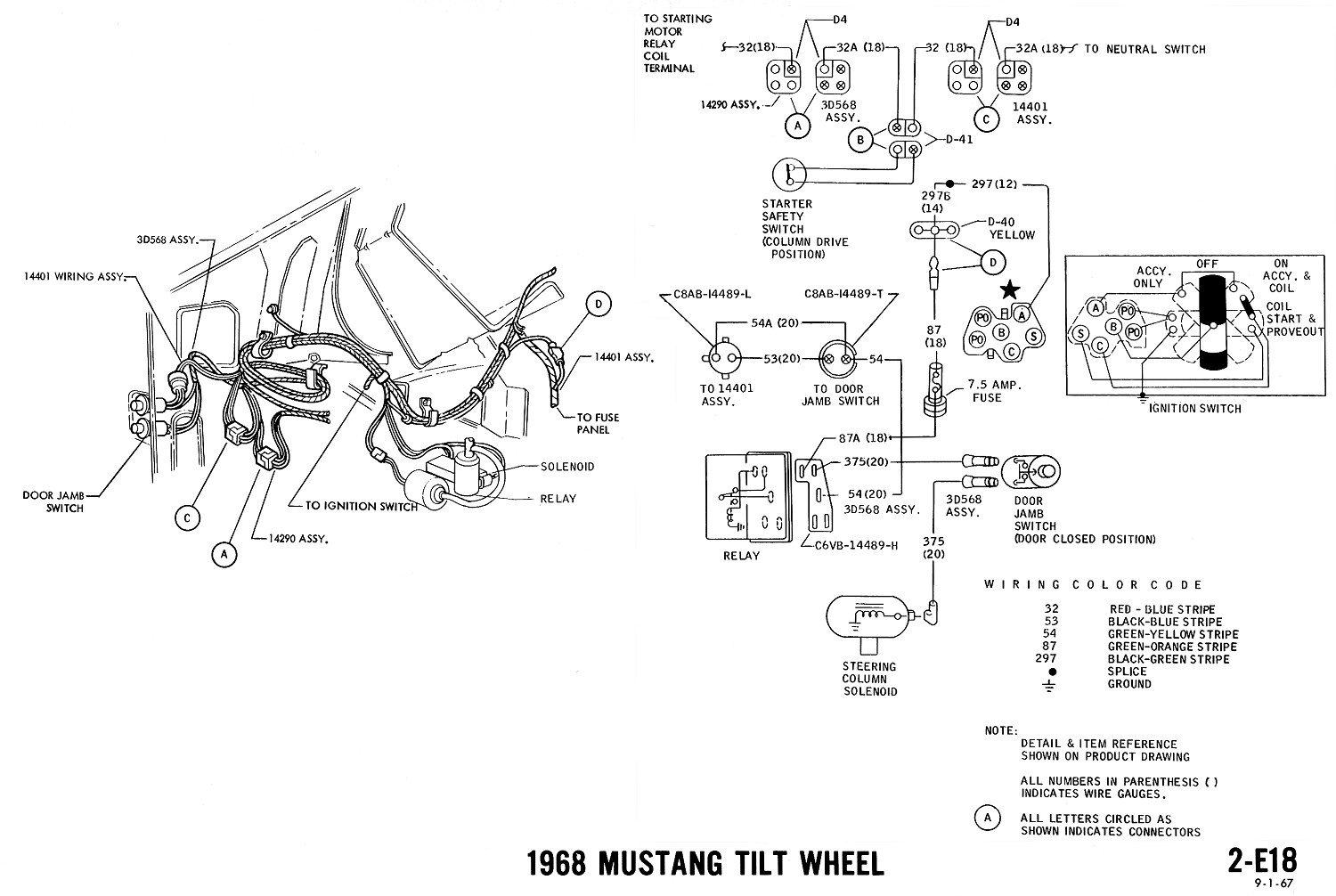 1968 Mustang Wiring Diagrams Evolving Software Power Wheels Harness Tilt Wheel