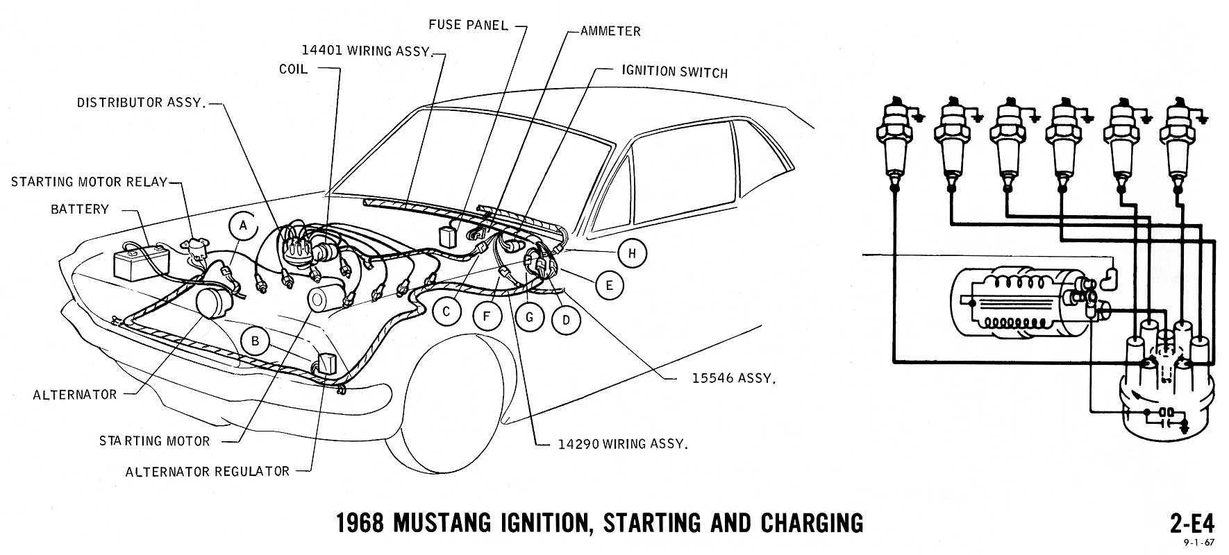 E4 1968 mustang wiring diagrams evolving software 65 mustang alternator wiring diagram at gsmx.co