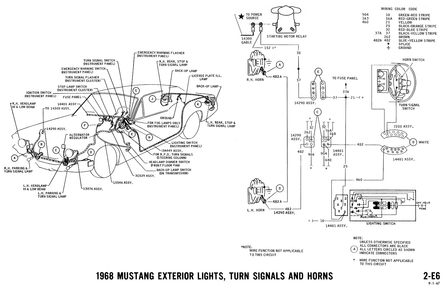1968 ford mustang fuse box diagram 1968 mustang wiring diagrams | evolving software 1988 ford mustang fuse box diagram