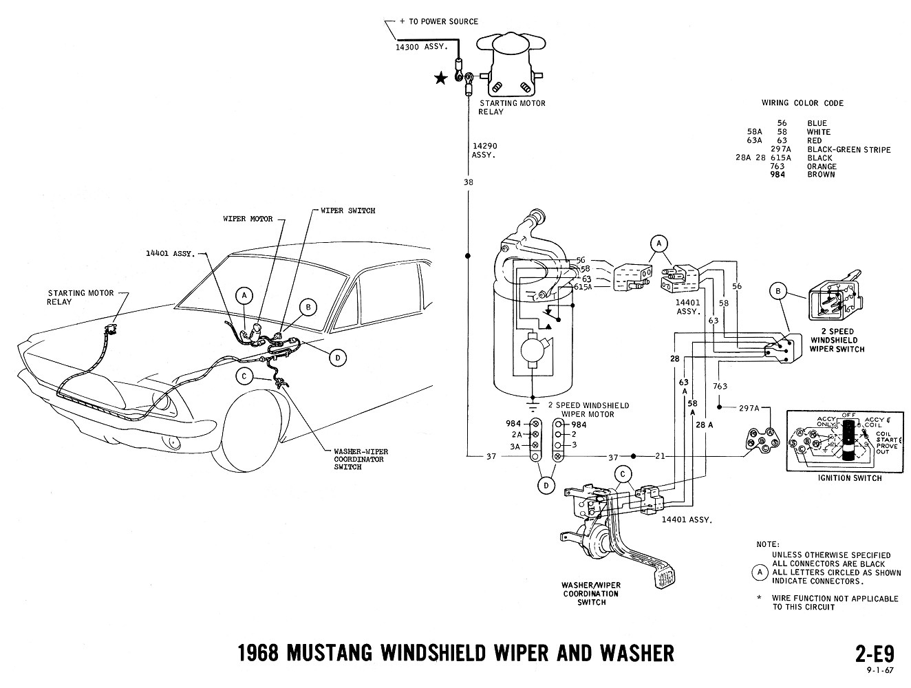 1968 mustang wiring diagrams evolving software windshield wipers washers