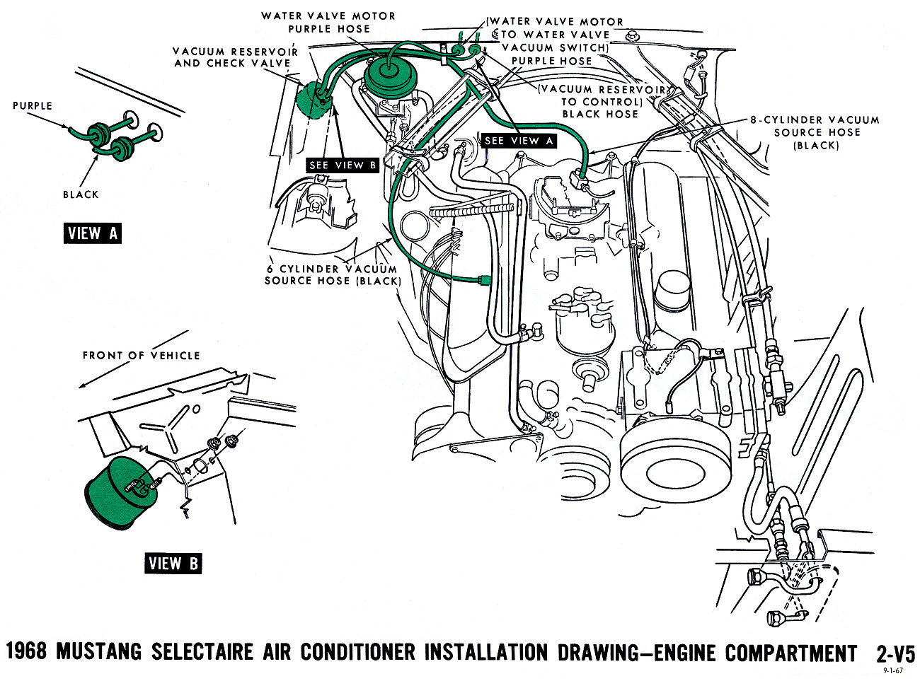 1968 Mustang Vacuum Diagrams on ford air conditioner diagram